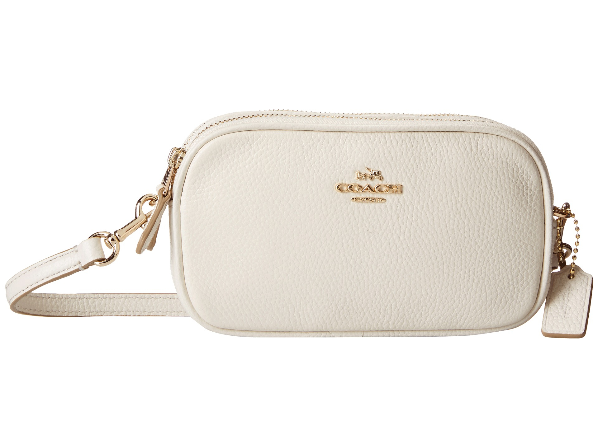 Lyst Coach Polished Pebble Crossbody Pouch In White