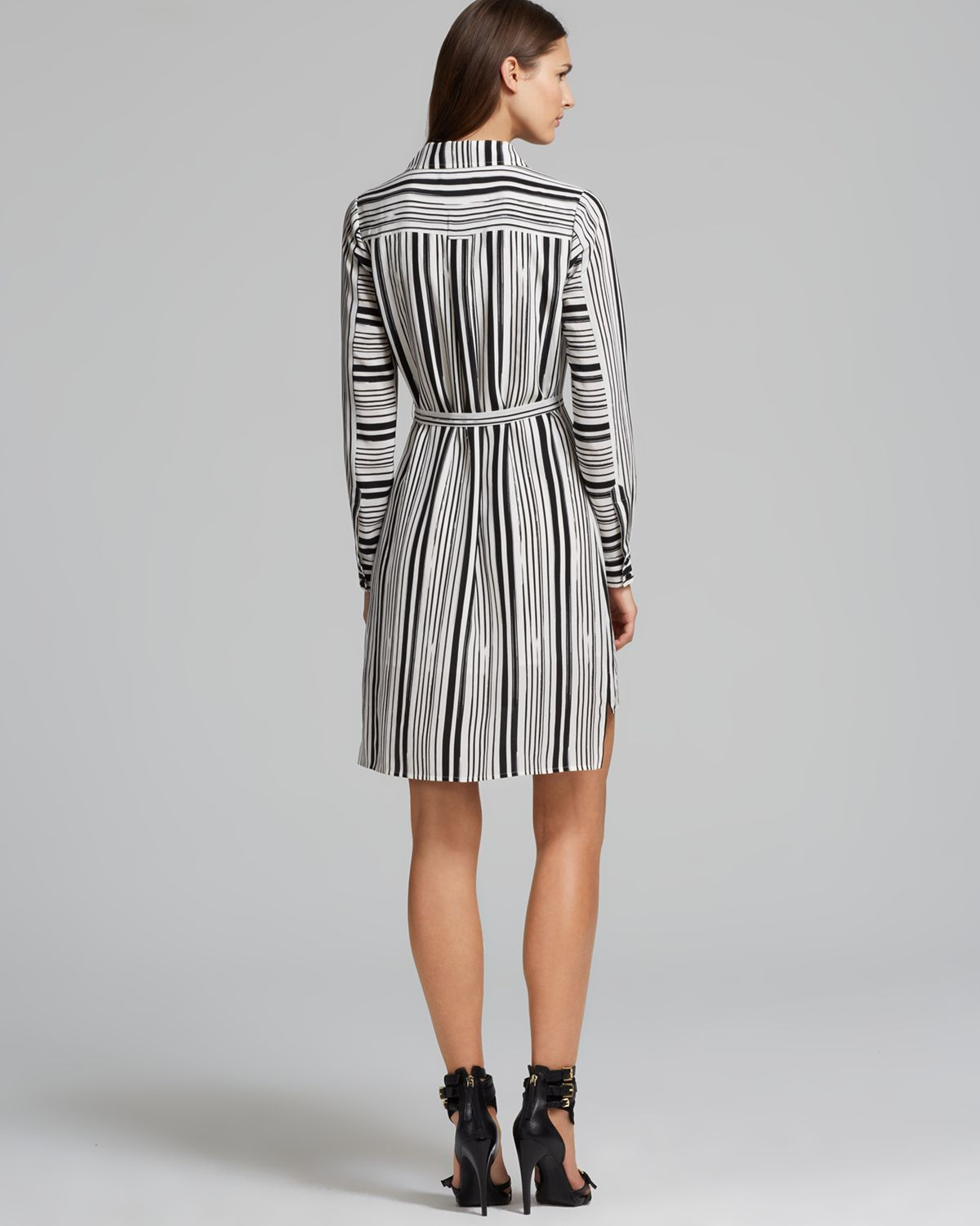 Black And White Long Shirt Dress - BCD Tofu House 4c753b0f9