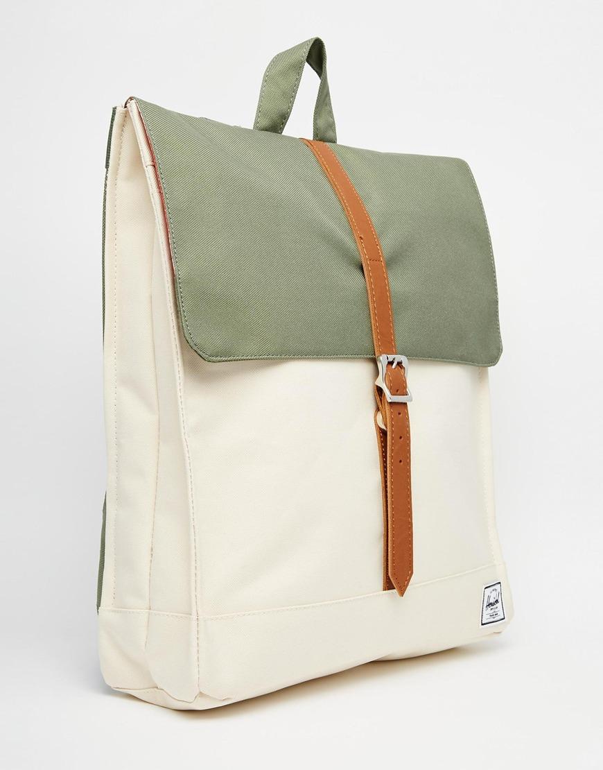 4b4aae8cd5ea Lyst - Herschel Supply Co. City Backpack In Khaki Colour Block in Green