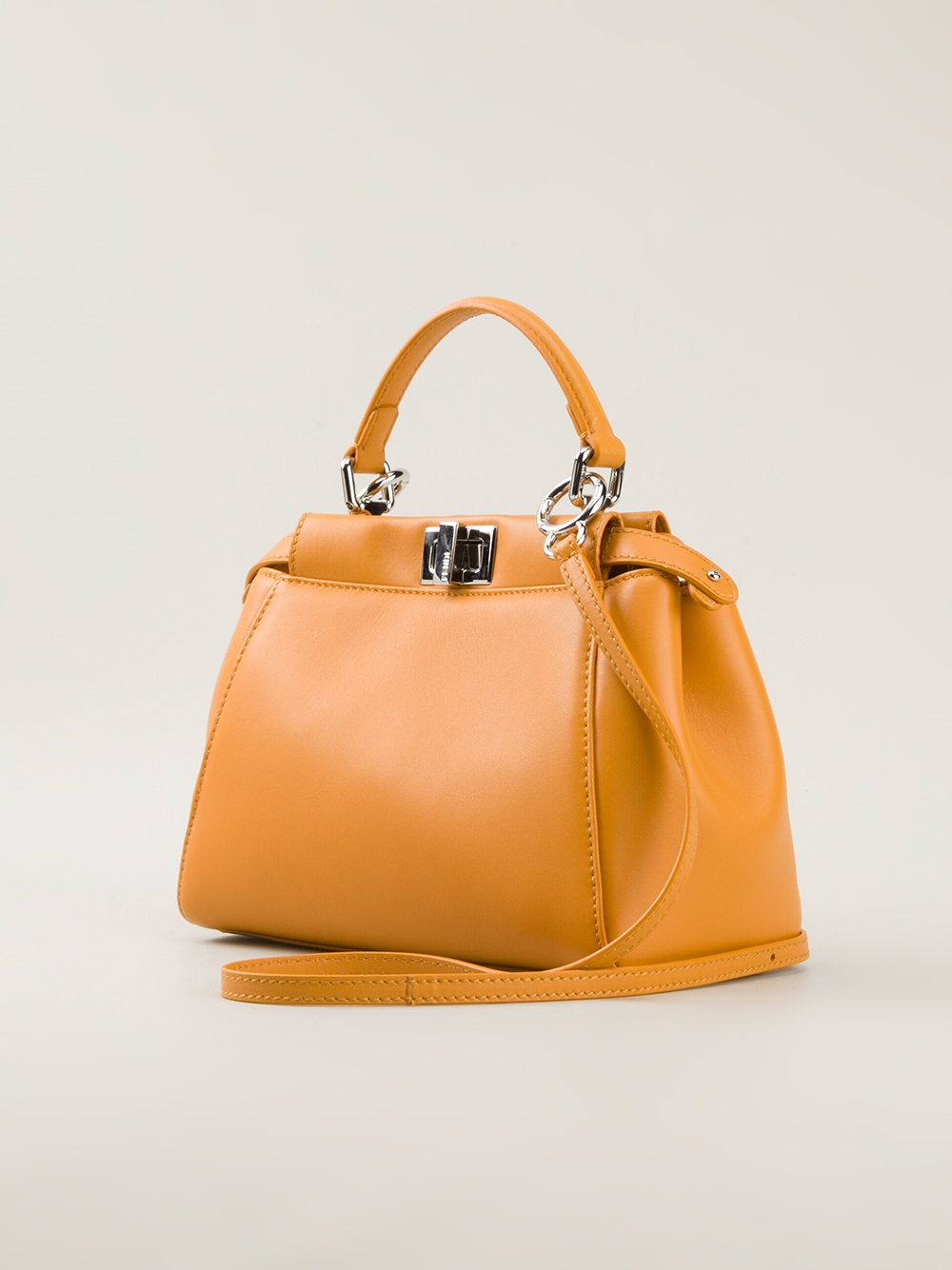 ... clearance fendi peekaboo small tote bag in yellow lyst 8f3a6 e1846 ... 6d8a8ff988acf