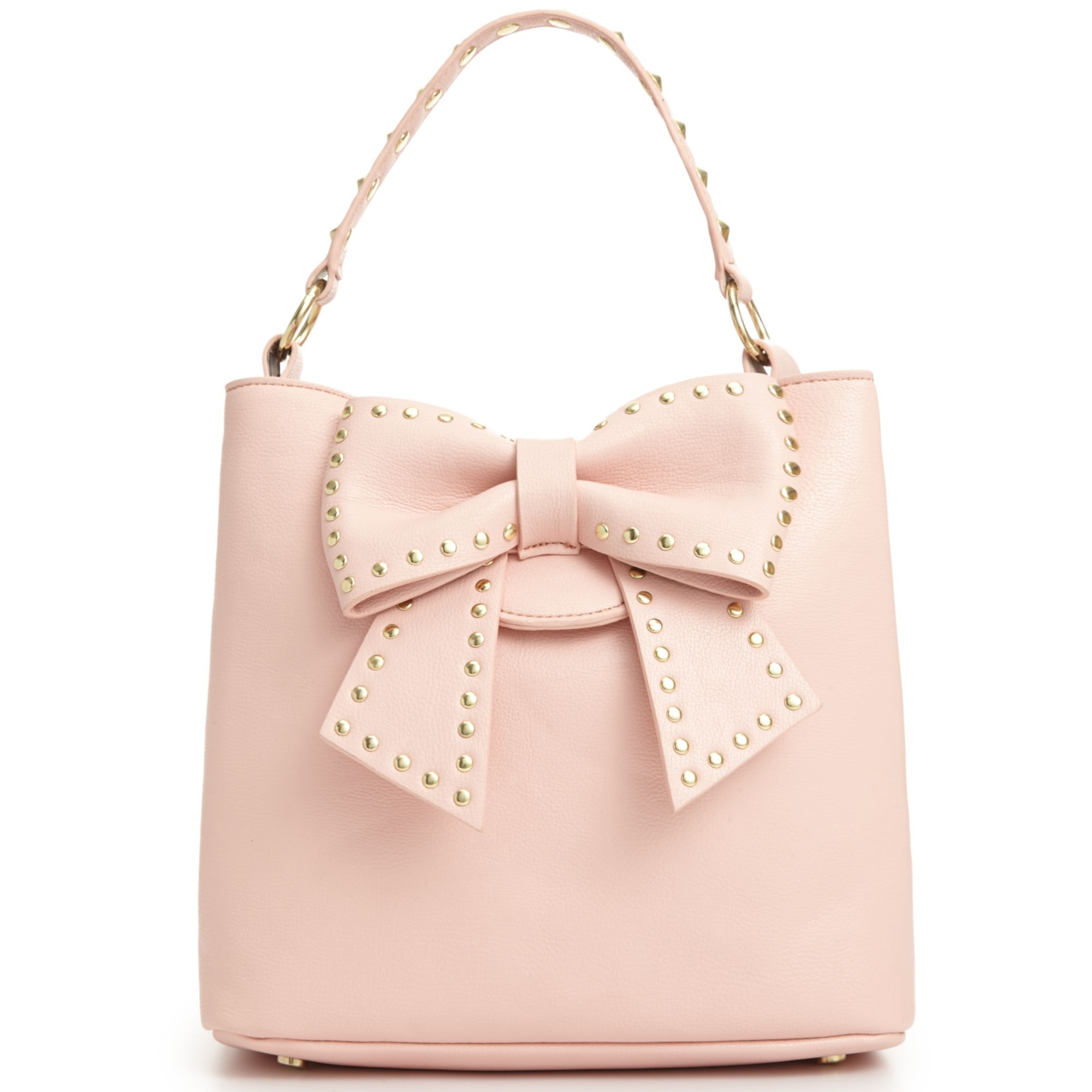 Betsey Johnson Hopeless Romantic Bucket Bag In Pink Blush