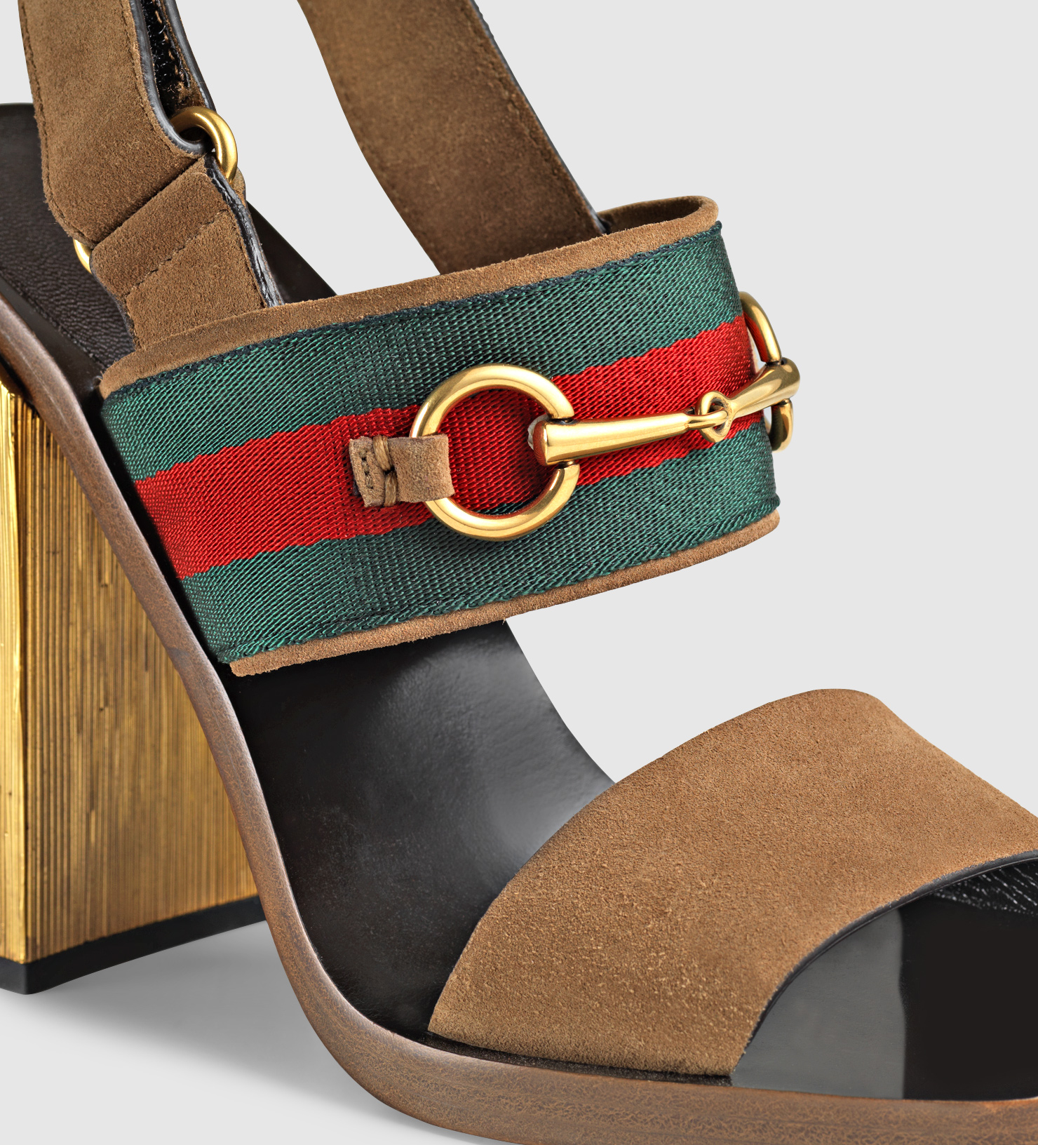 Lyst Gucci Suede Horsebit Sandal In Brown