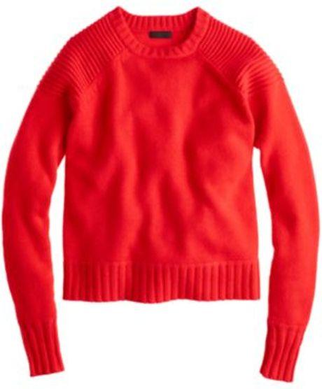 Crew Neck J Crew Knitwear J Crew Red Cashmere Crew Neck