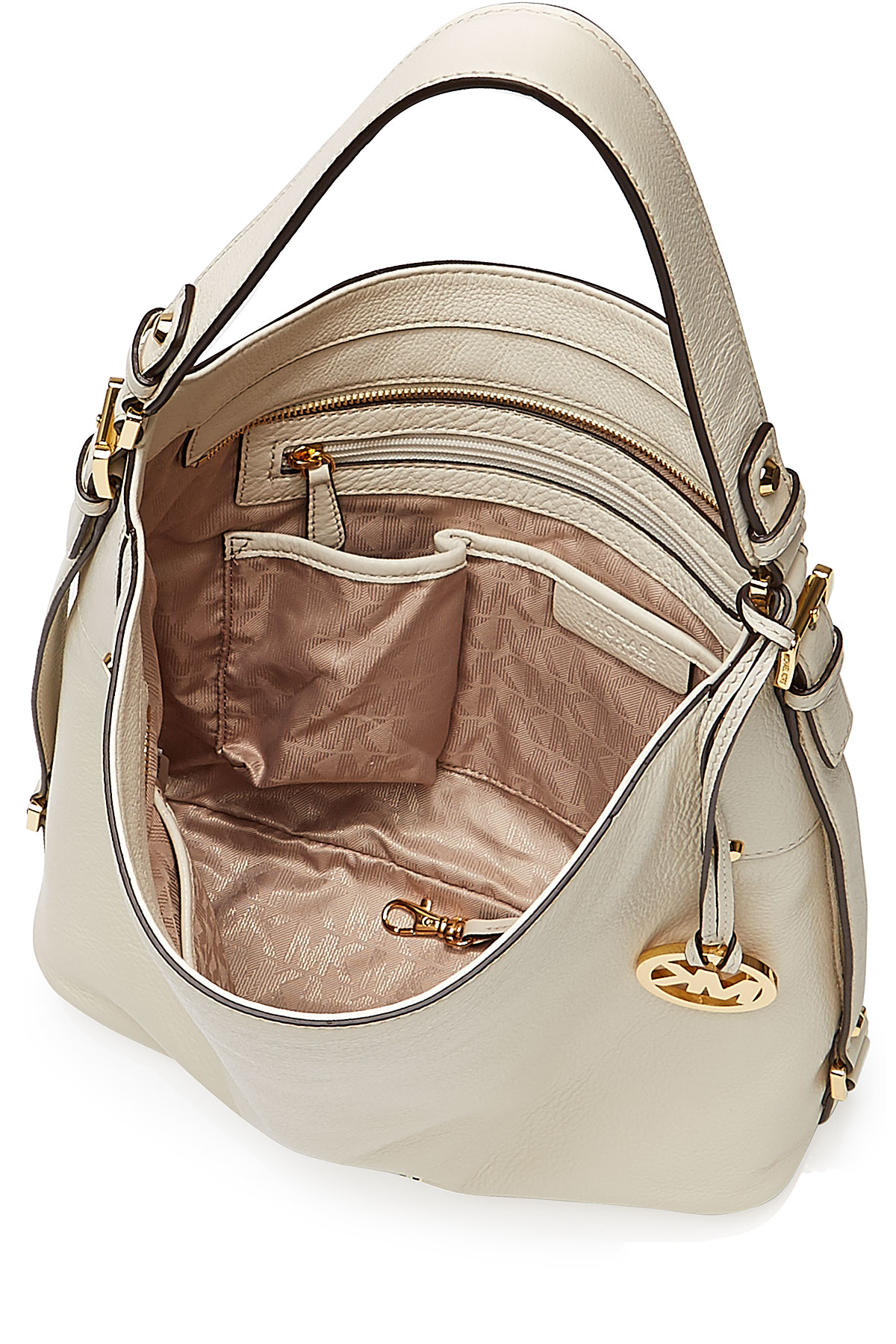 4258eea06e8007 MICHAEL Michael Kors Bedford Large Leather Shoulder Bag - White in ...