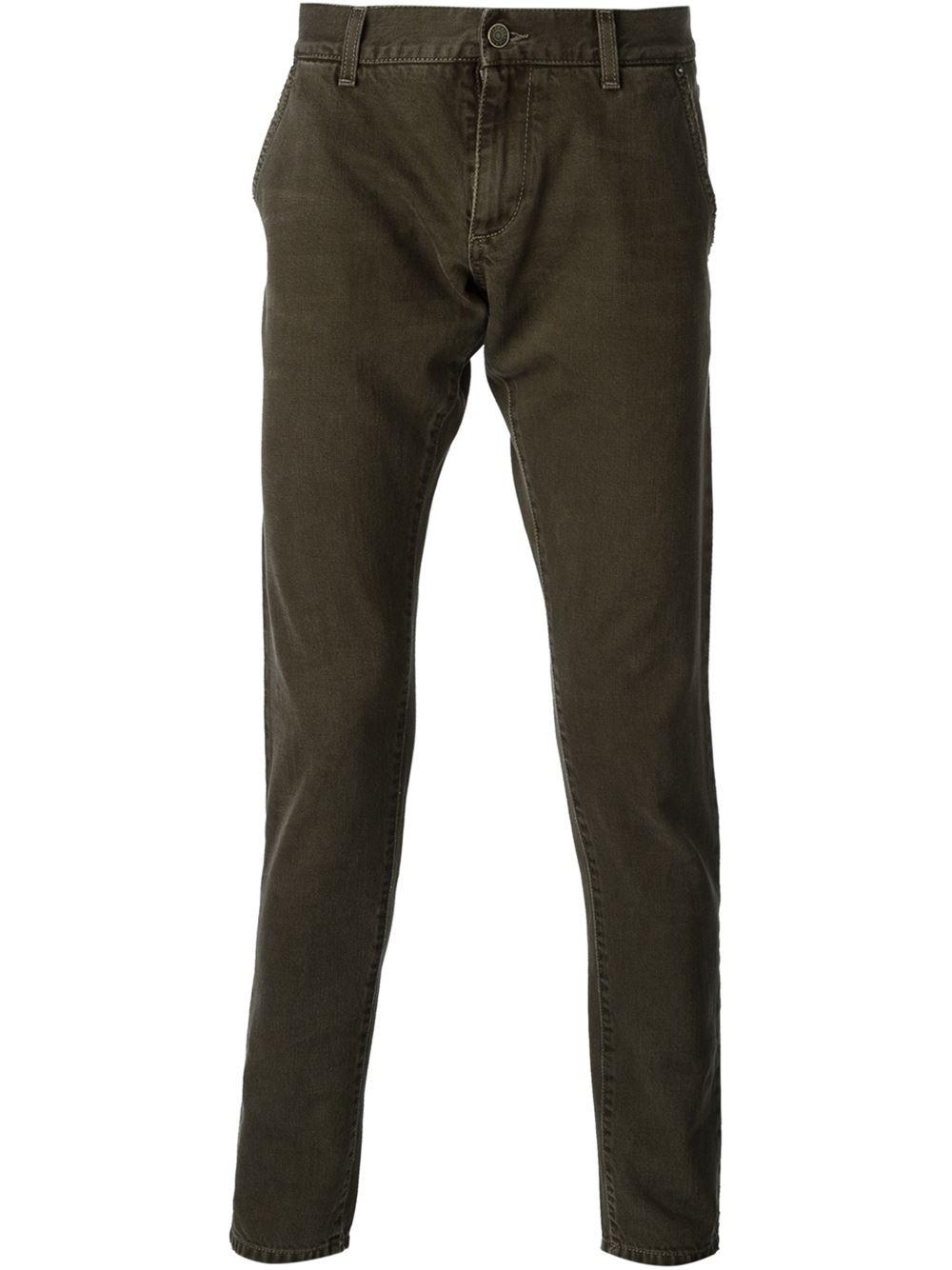 dolce gabbana skinny jeans in green for men lyst. Black Bedroom Furniture Sets. Home Design Ideas