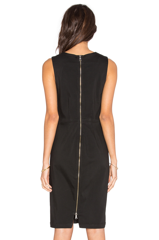Lyst Level 99 Coated Denim Mini Dress In Black