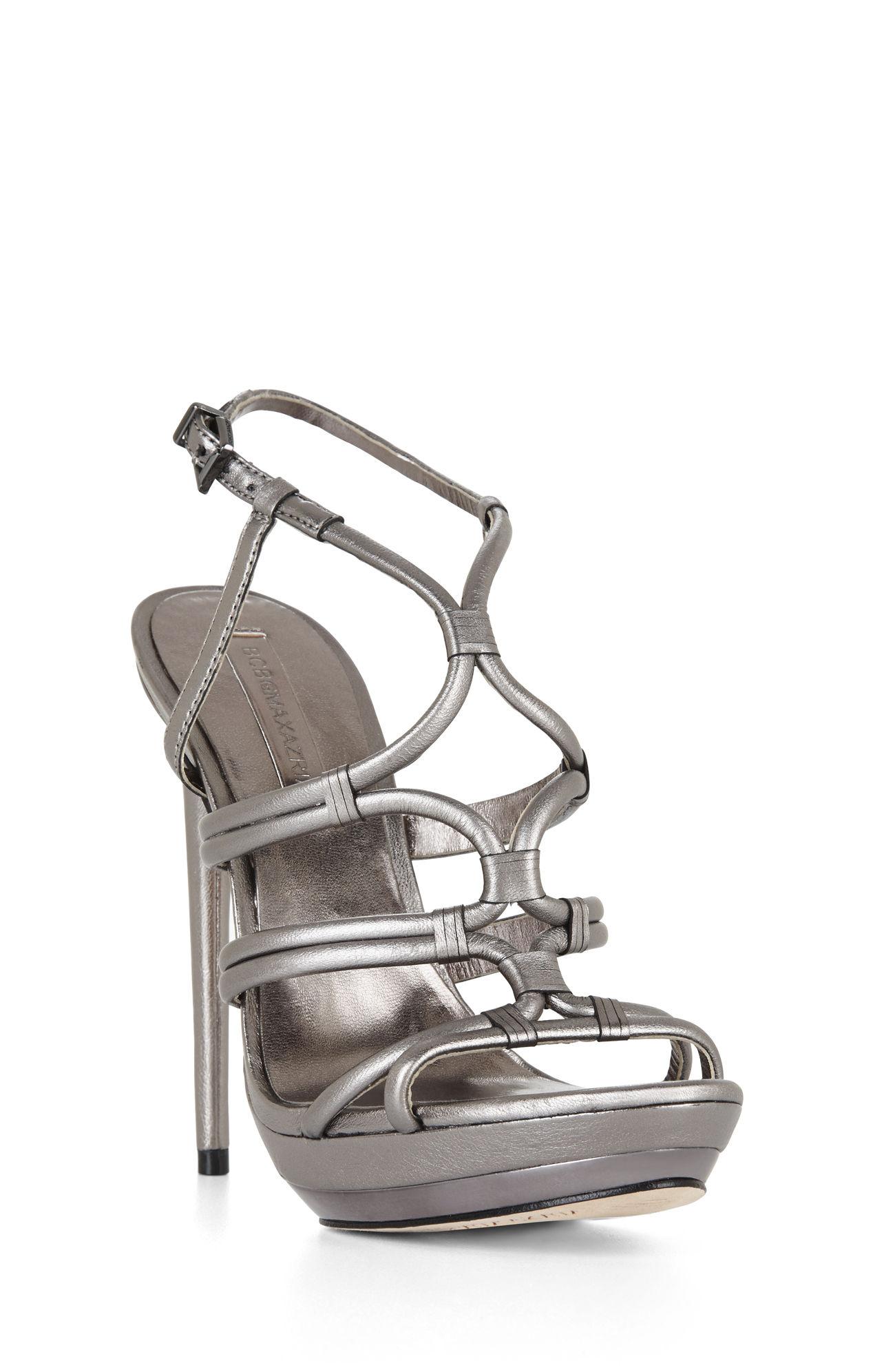 3c1022790fa8 Lyst - BCBGMAXAZRIA Farrow High-heel Strappy Dress Sandal in Gray
