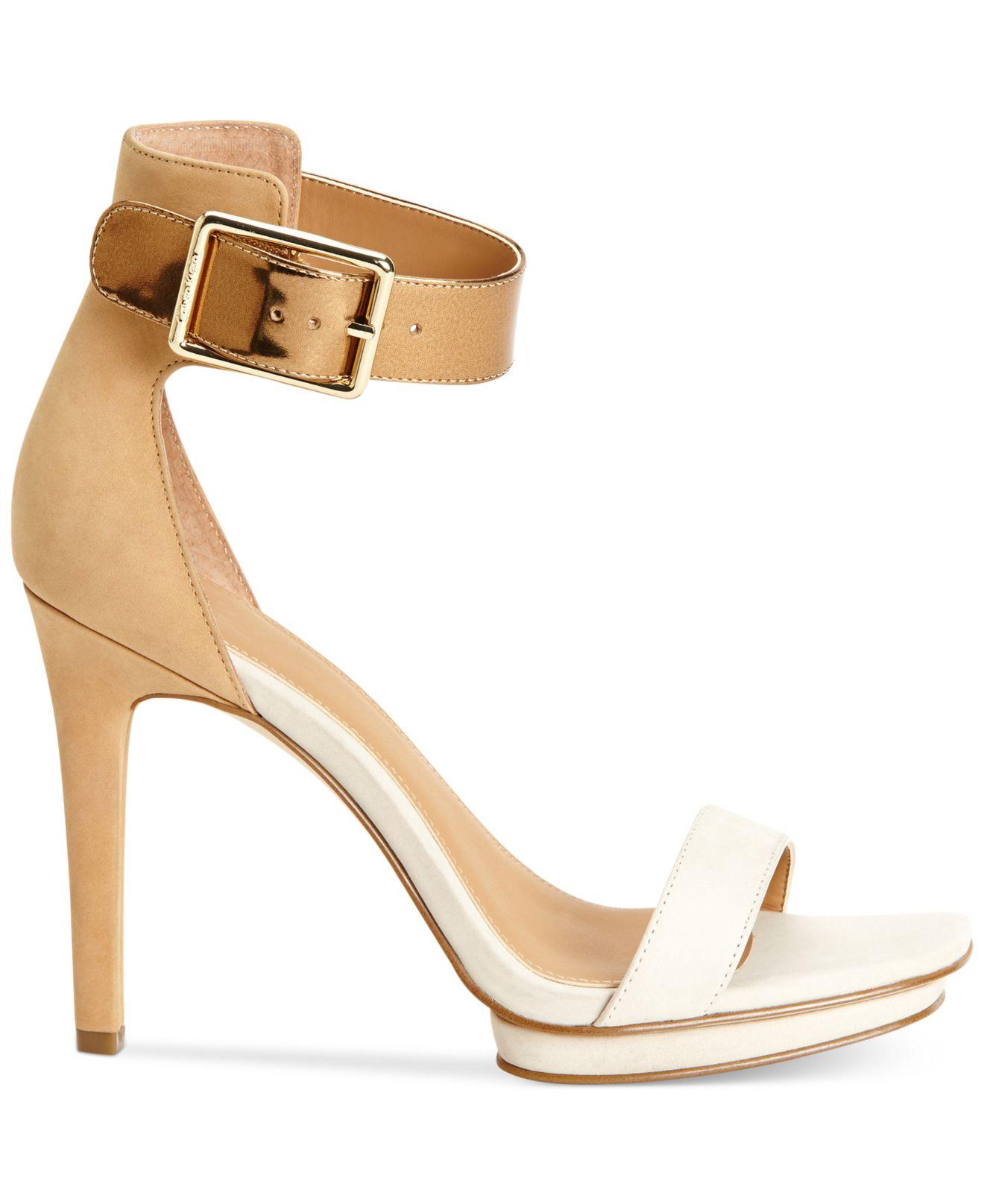 f9dfcd76308 Lyst - Calvin Klein Women s Vable Sandals in White