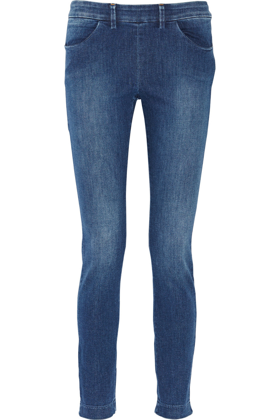 acne studios skinny high rise jeans in blue mid denim lyst. Black Bedroom Furniture Sets. Home Design Ideas