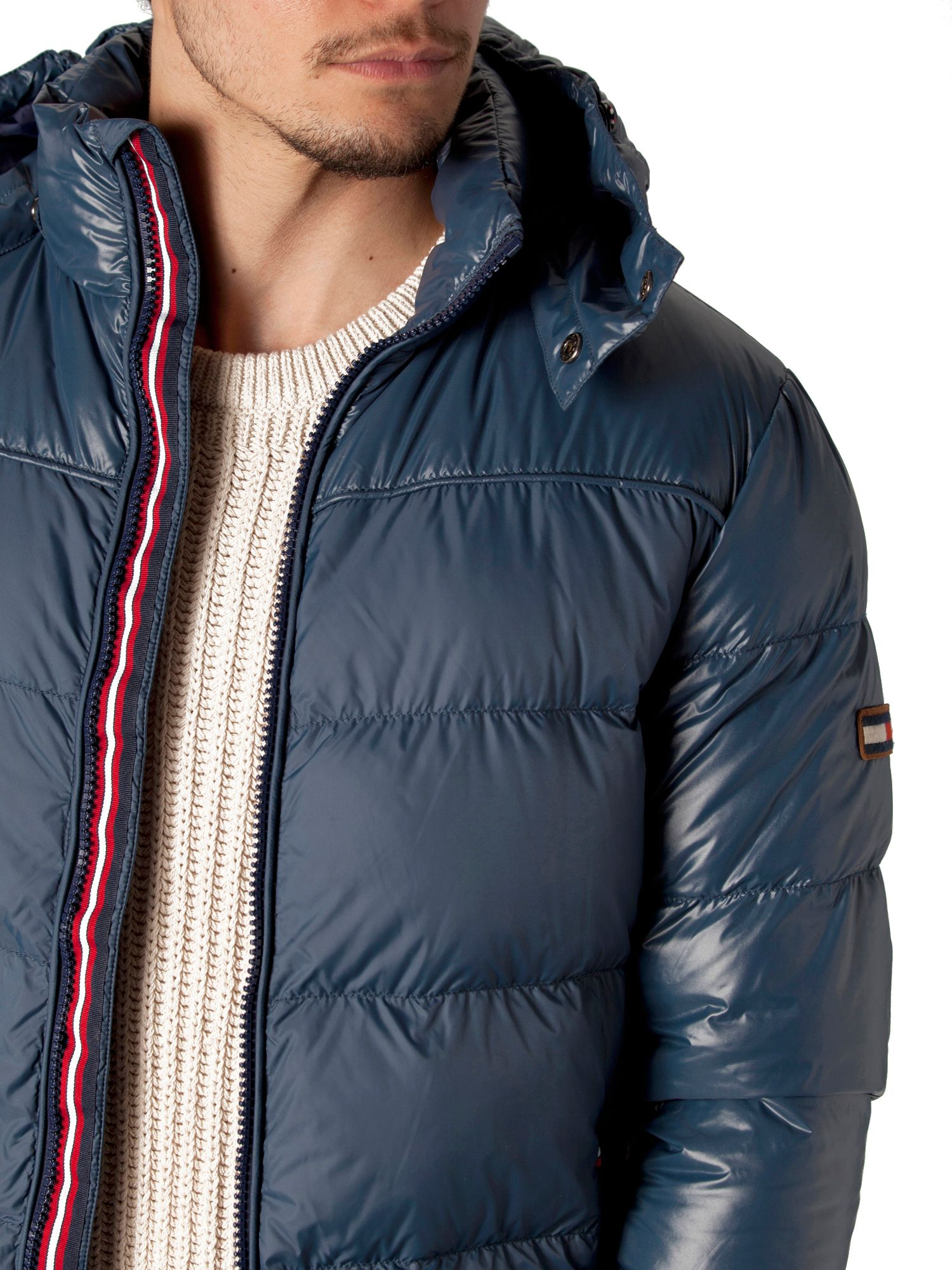 tommy hilfiger donnie down jacket in blue for men lyst. Black Bedroom Furniture Sets. Home Design Ideas