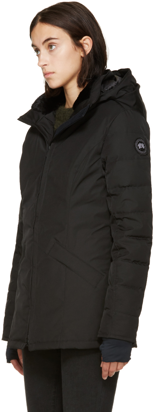 Canada Goose trillium parka outlet cheap - Canada goose Black Label Down And Fur Belmont Coat in Black | Lyst