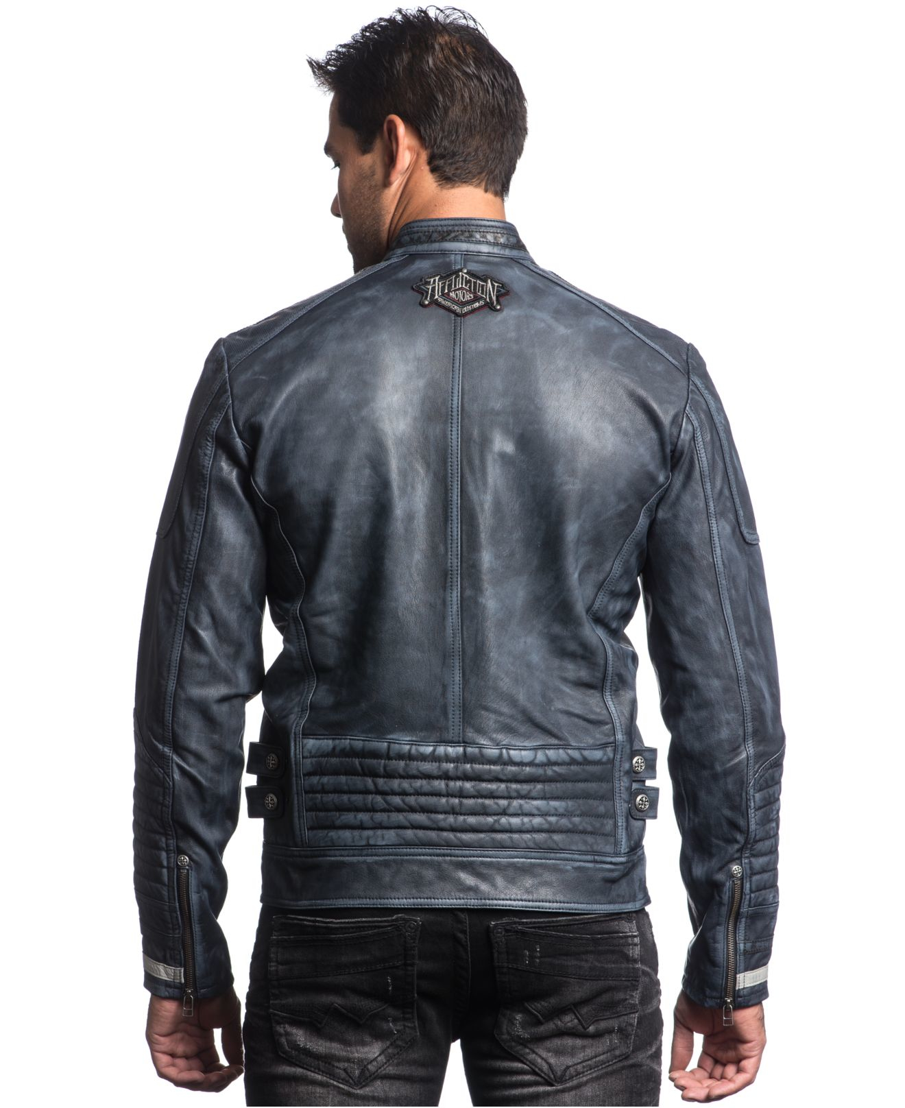 Lyst Affliction American Rebel Leather Jacket In Blue