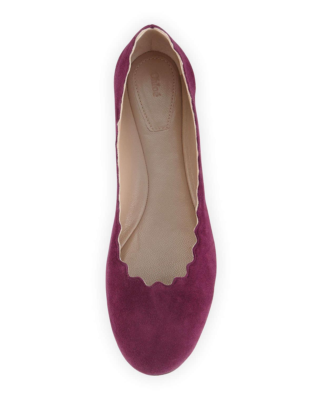 Chloé Festonné Ballerine - Rose Et Violet 42UI2yVw3S