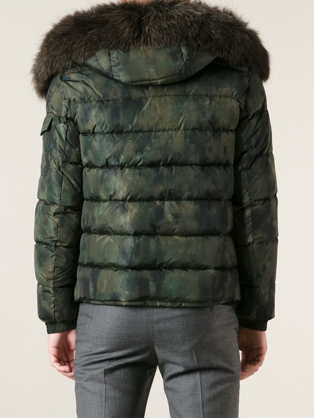 ec99ed82709a Lyst - Moncler Byron Camouflage Padded Jacket in Green for Men