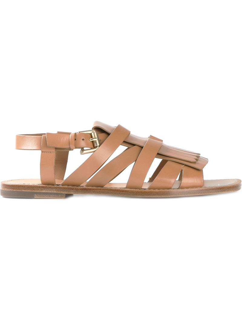 fringed sandals - Nude & Neutrals Santoni Cheap Shop Offer Buy Cheap Websites Discount Order Best Place Free Shipping Lowest Price zV937hTu