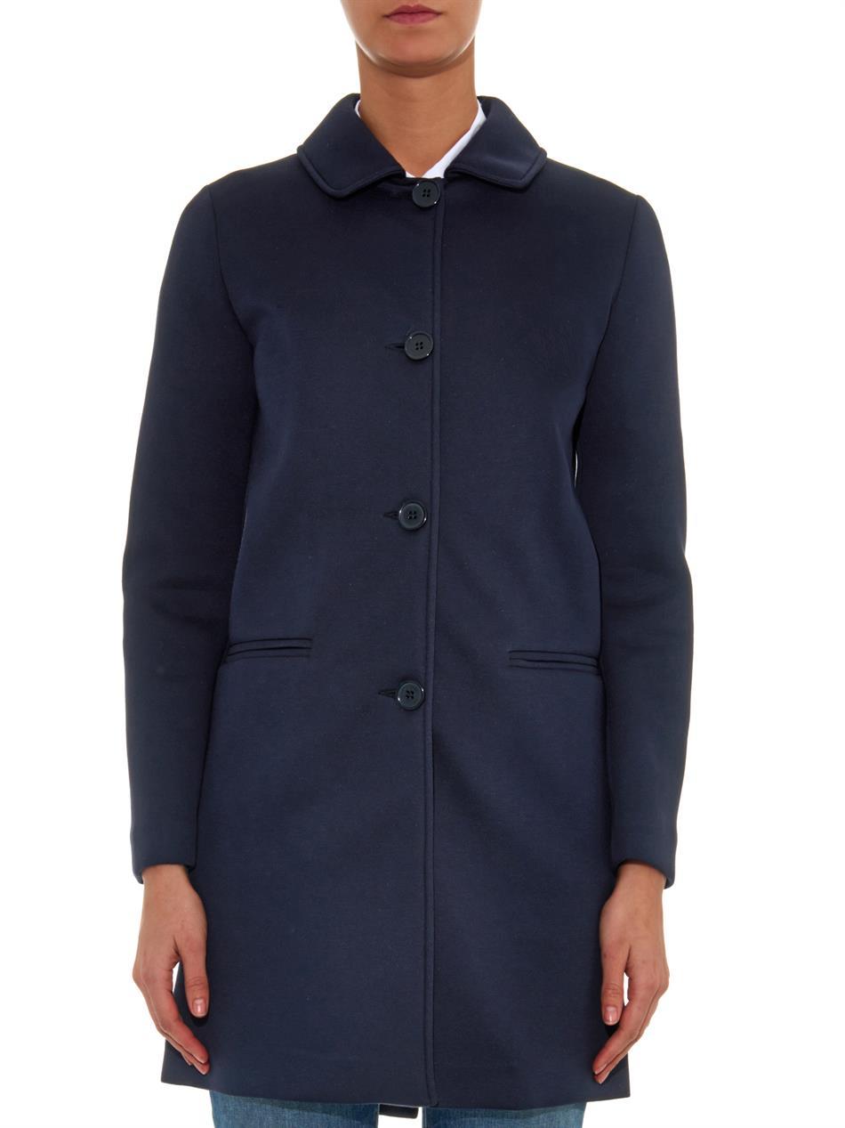 weekend by maxmara ghetta a line coat in blue lyst. Black Bedroom Furniture Sets. Home Design Ideas