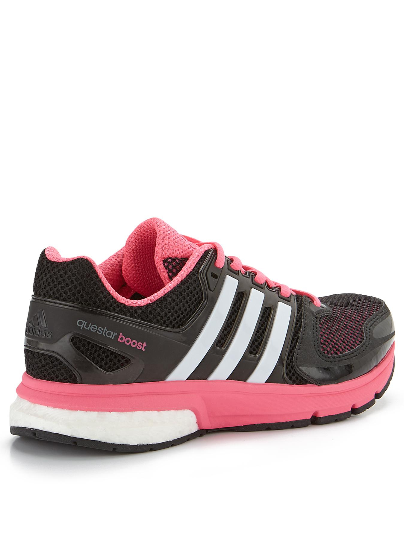 adidas questar boost trainers in pink for men black pink. Black Bedroom Furniture Sets. Home Design Ideas