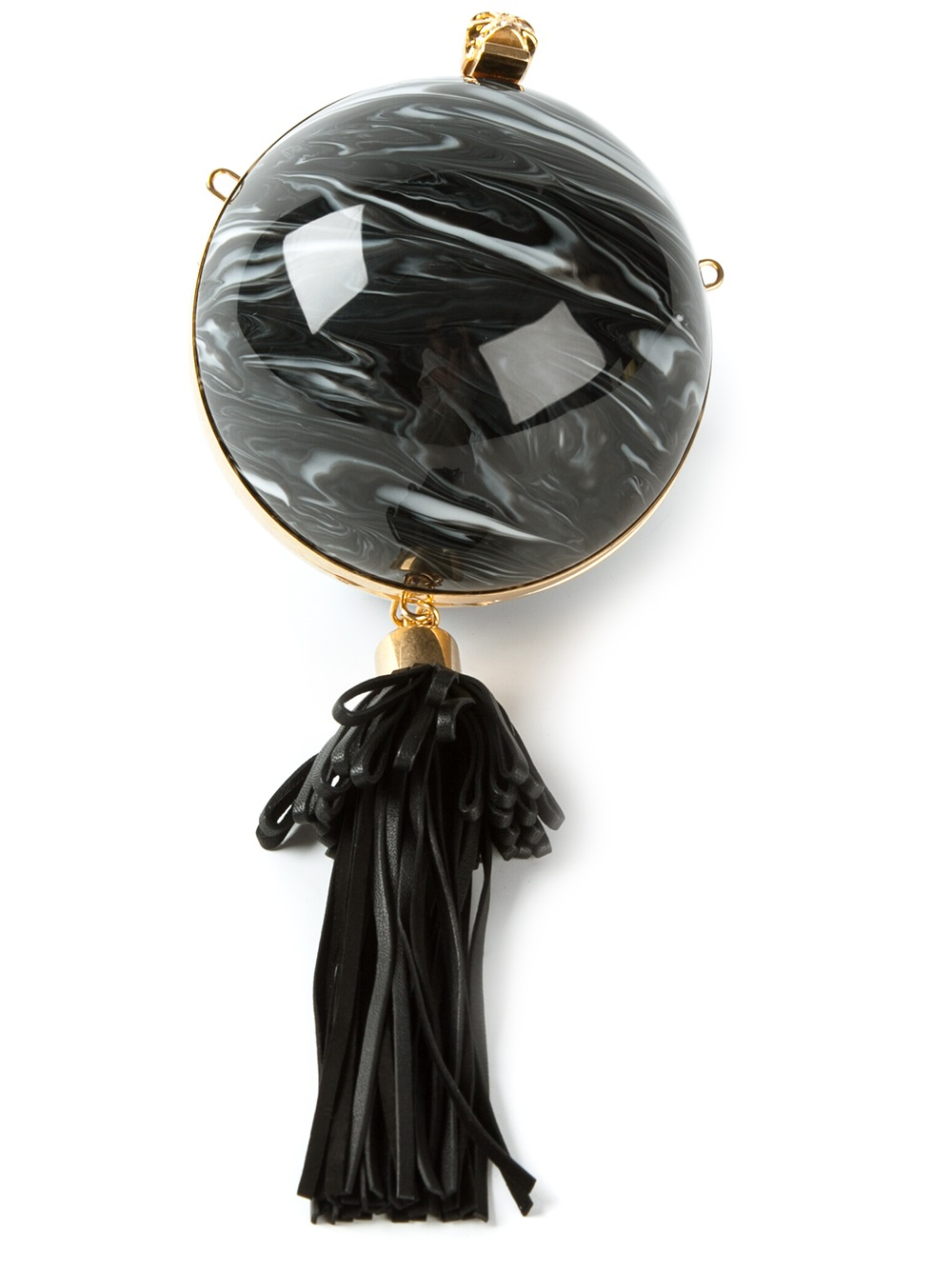 Lyst Alexander Mcqueen Sphere Skull Clutch In Black