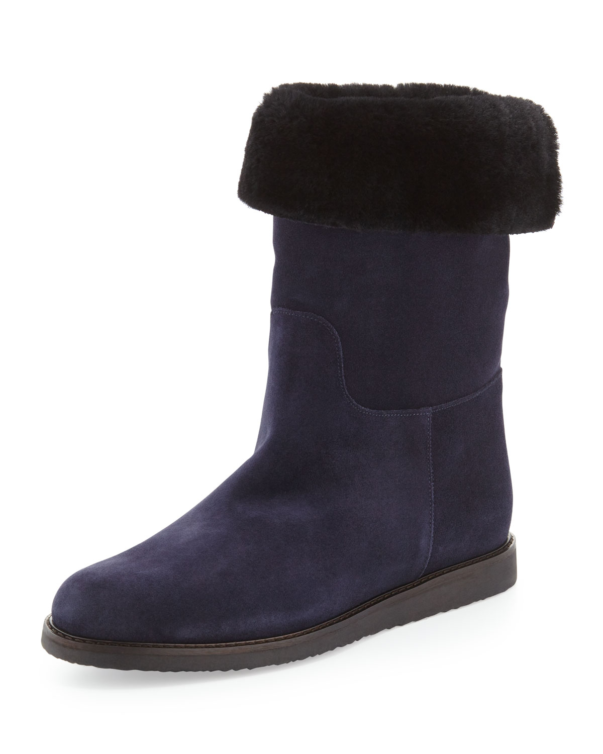 ferragamo my ease suede boot in black lyst
