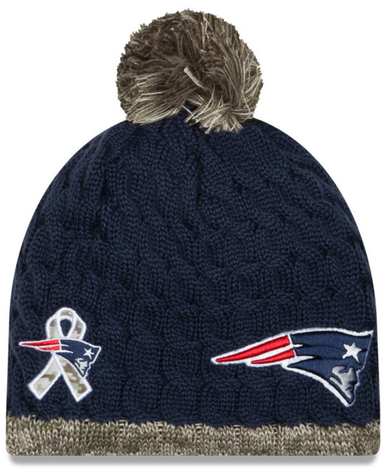 Lyst - KTZ Women s New England Patriots Salute To Service Knit Hat ... a5473977bb