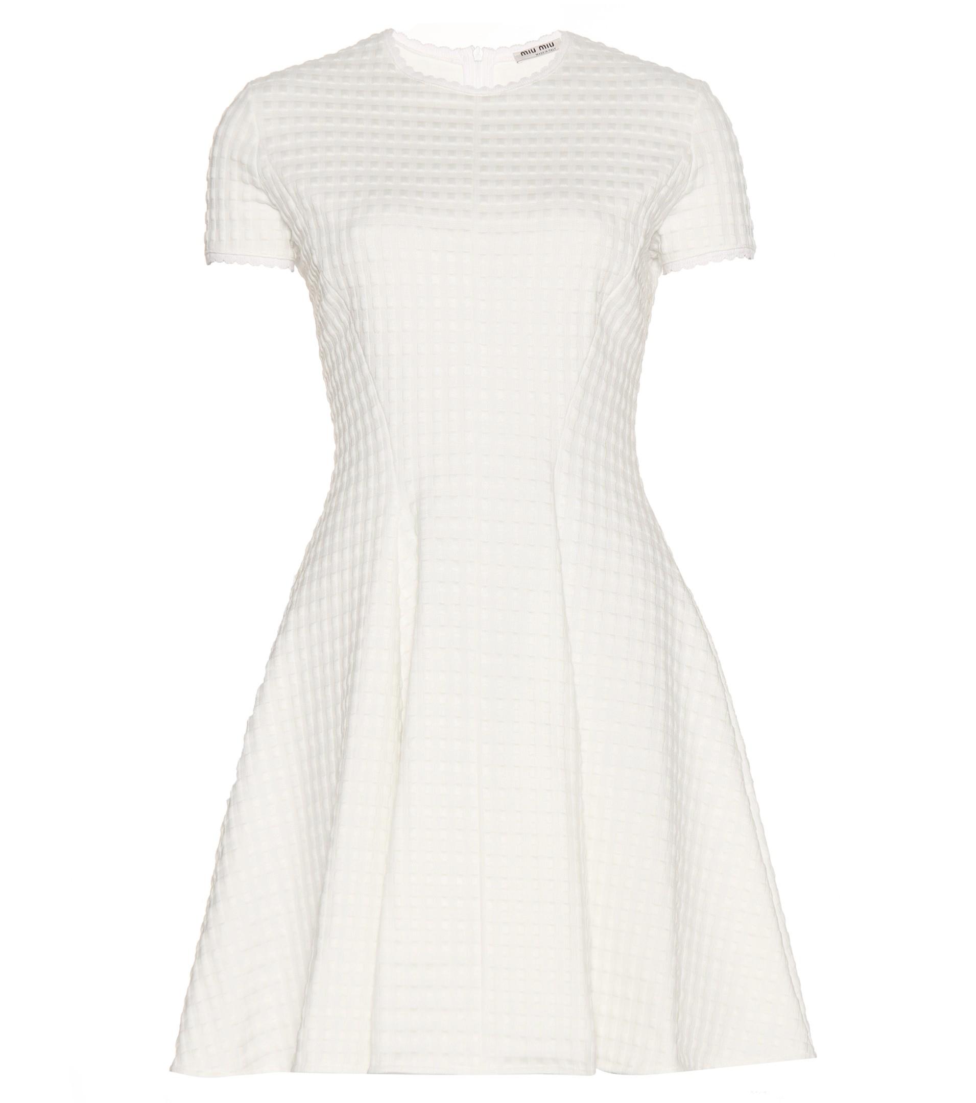miu miu black and white dress
