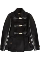 Burberry Leathertrimmed Wool and Cashmereblend Jacket