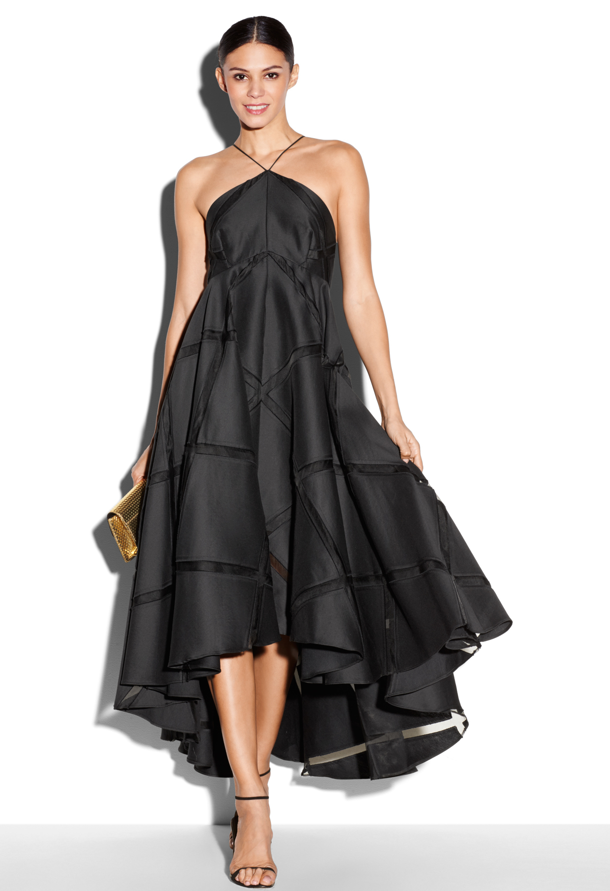 Lyst Milly Diamond Fil Coupe Lara Dress In Black