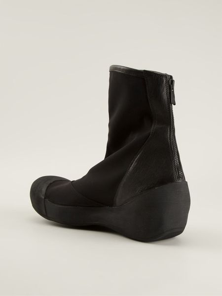 Lost Amp Found Back Zip Boots In Black For Men Lyst
