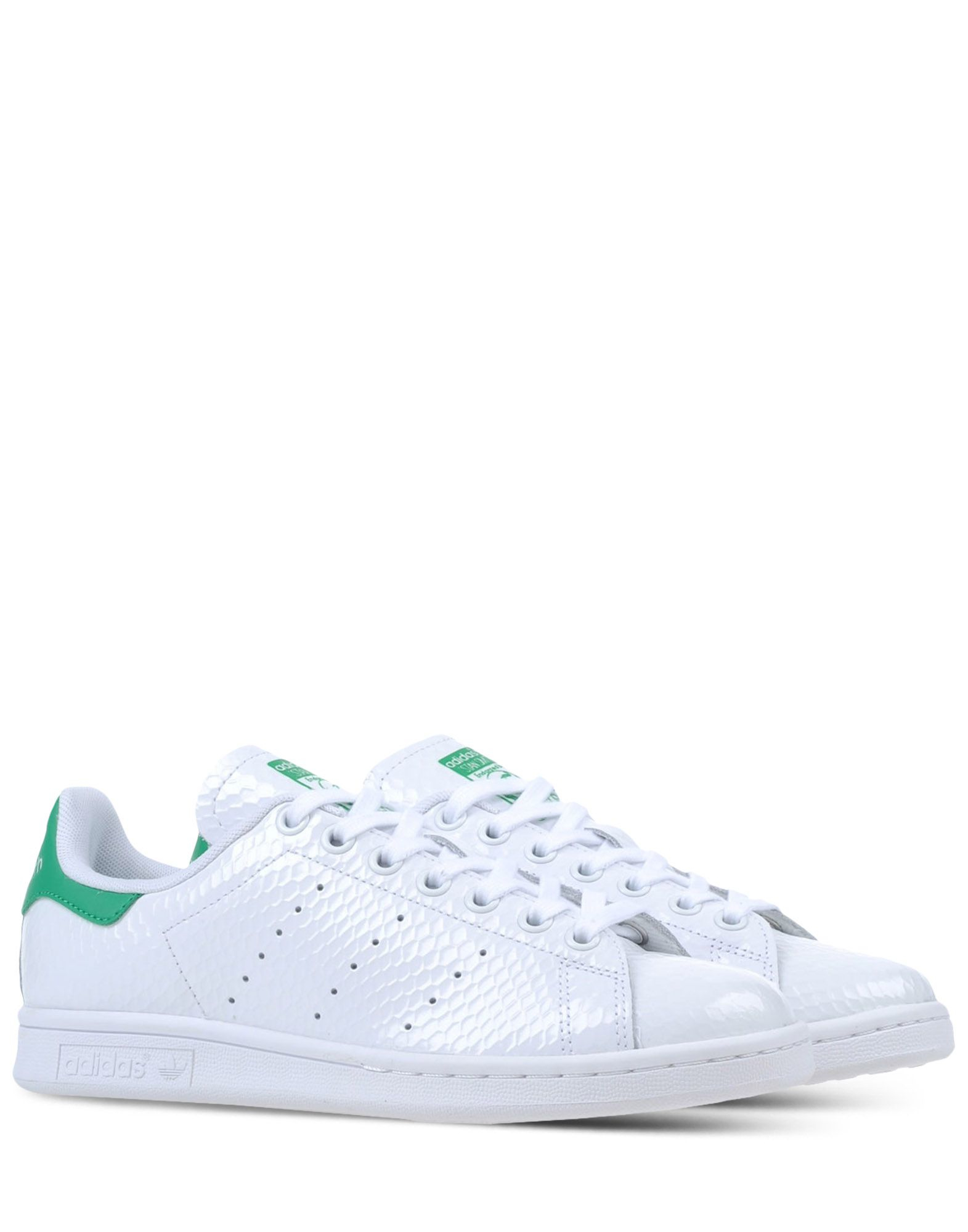 adidas originals varnished leather low top sneakers in