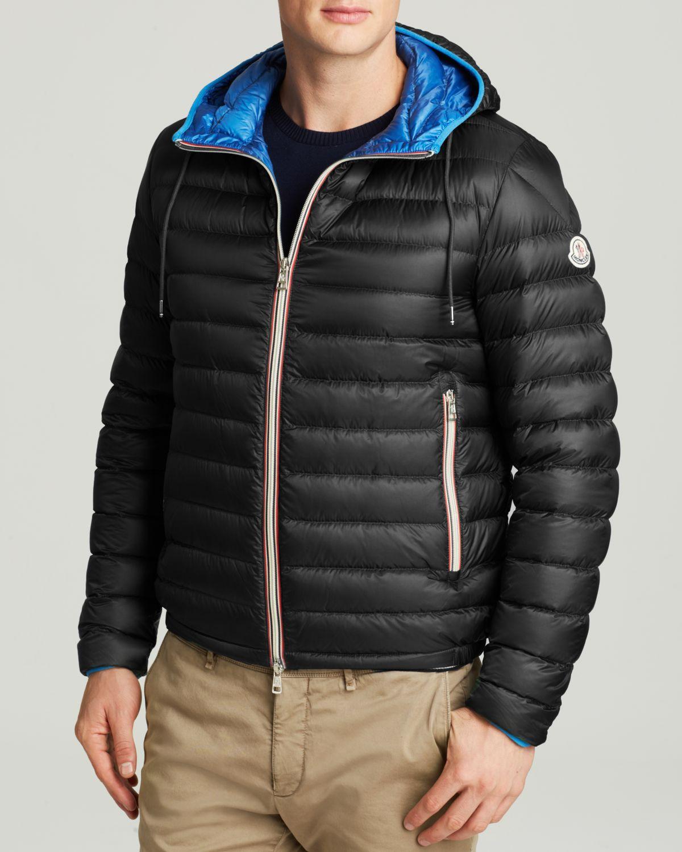 moncler black hooded jacket