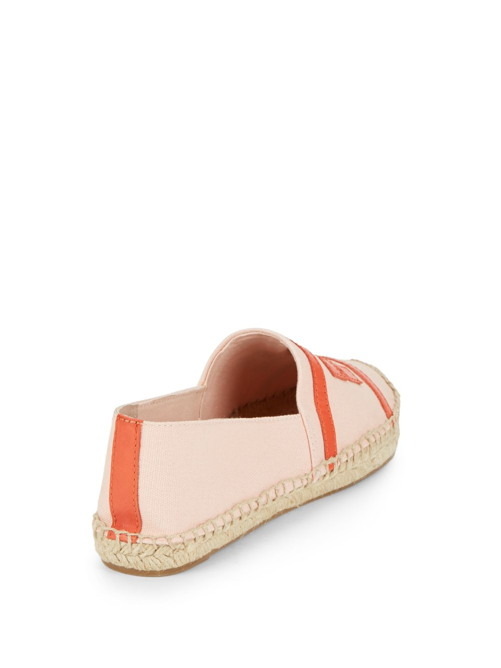 fef0d0d9778 Lyst - Tory Burch Double T Canvas Espadrille Flats in Pink