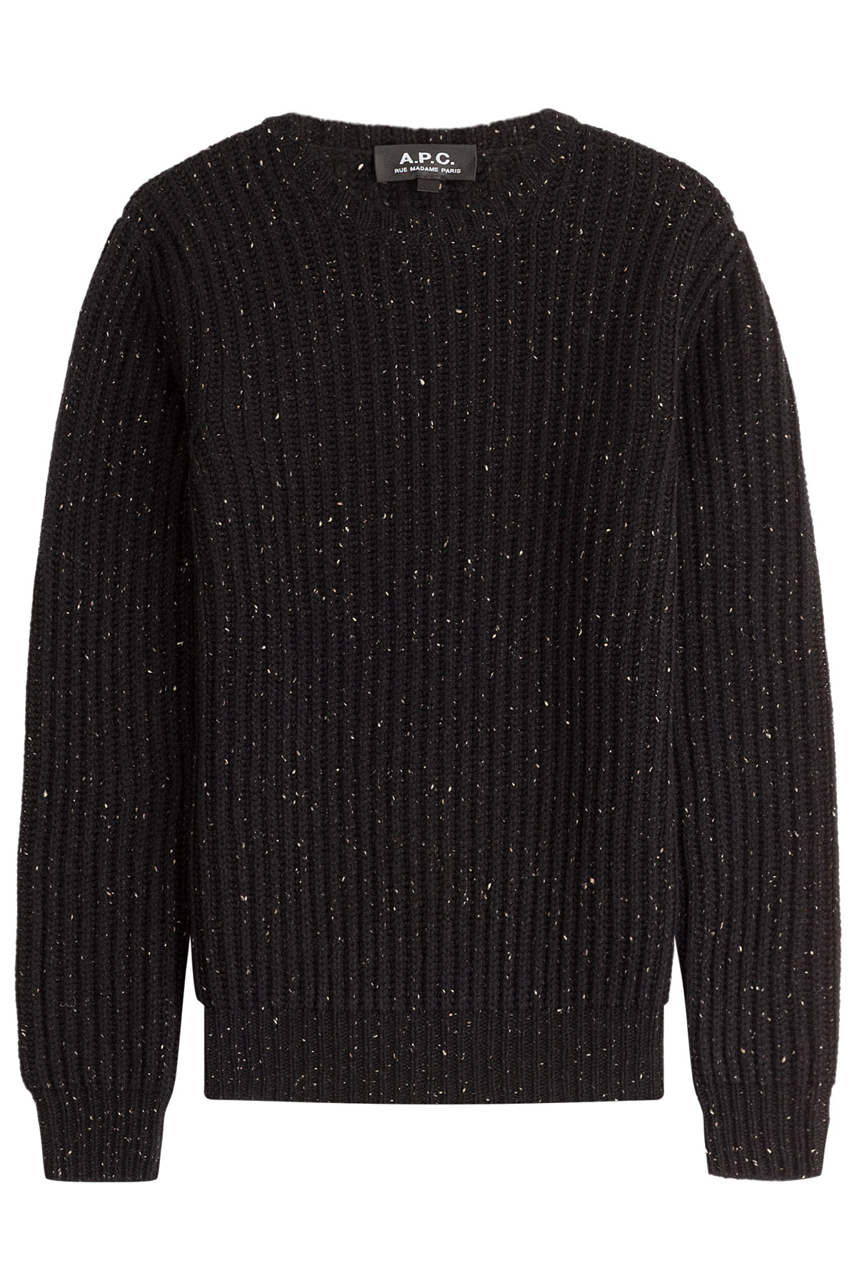 A.p.c. Peter Merino Wool Pullover - Black in Black for Men | Lyst