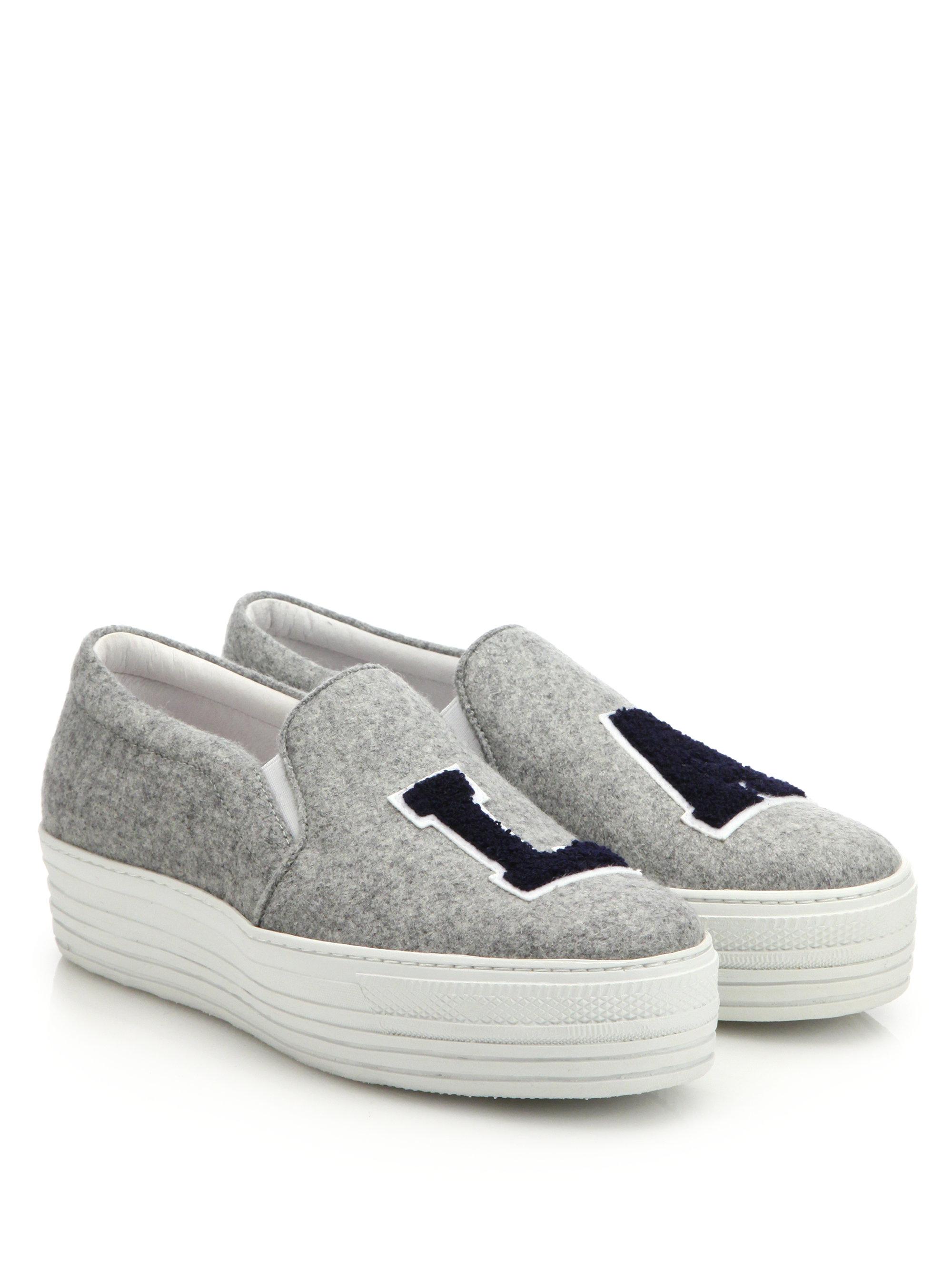 Grey Felt NY Platform Slip-On Sneakers Joshua Sanders Ws8qR9bsCg