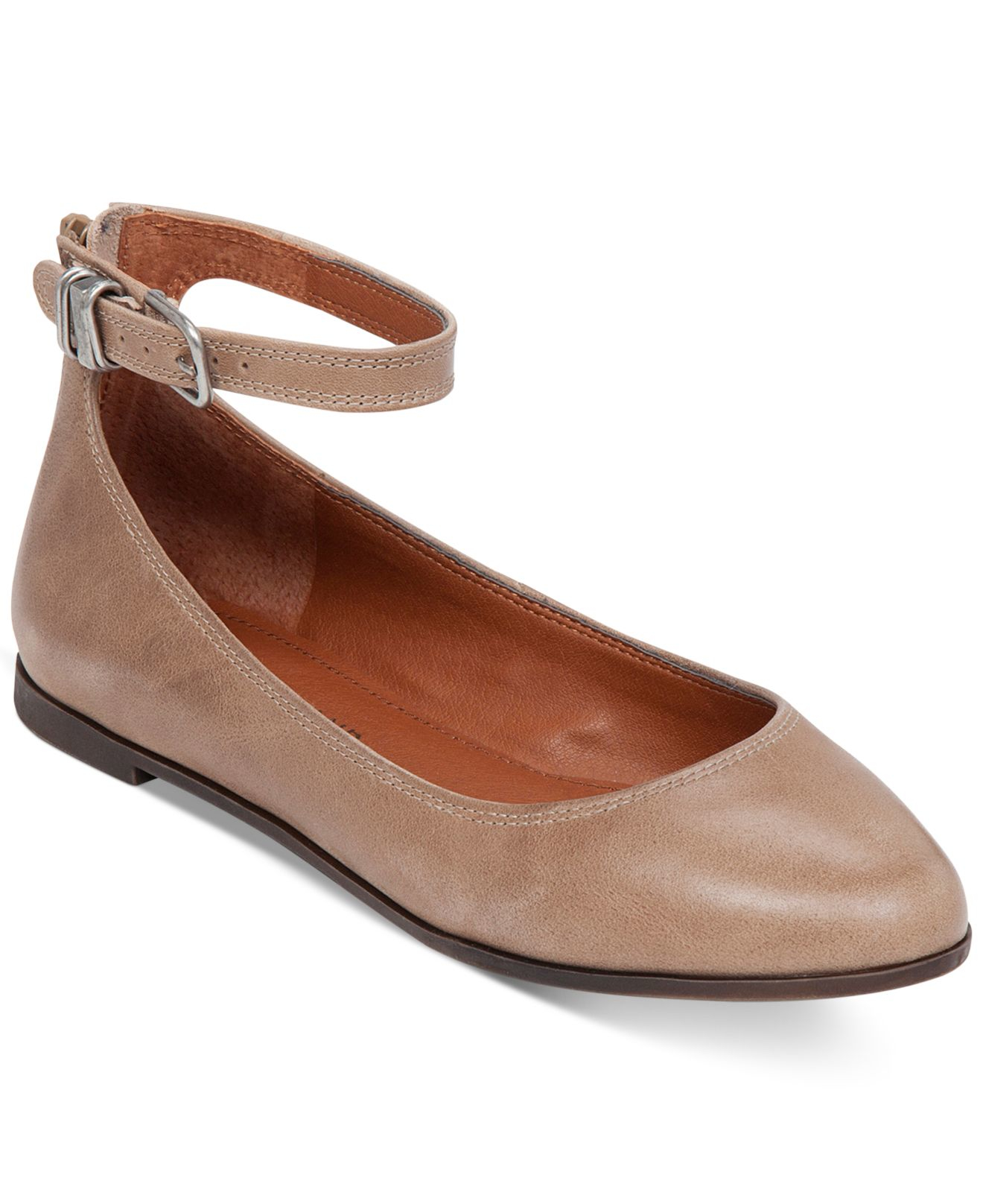 bc0857f50 Lyst - J.Crew Velvet Ankle-strap Ballet Flats in Pink