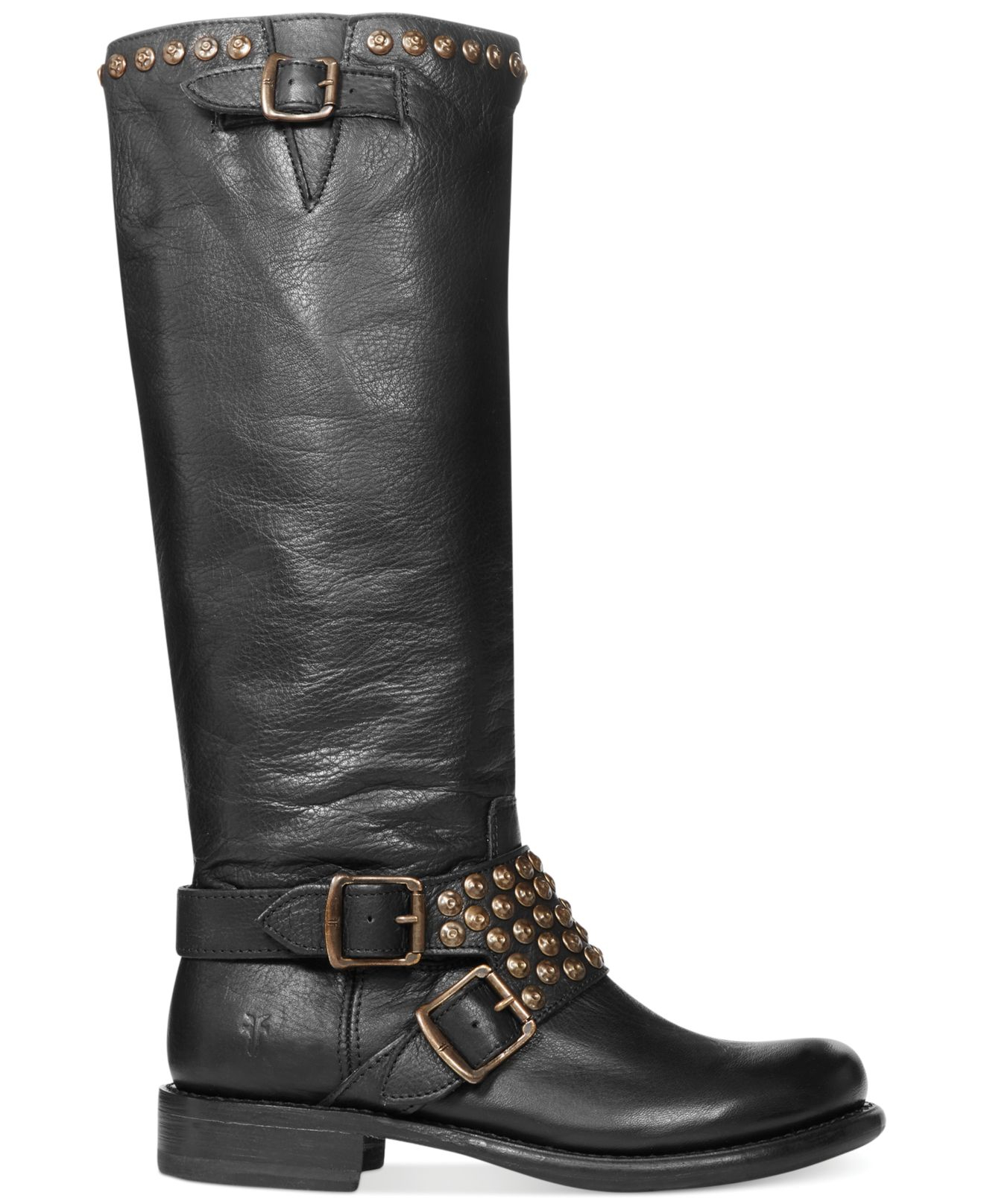 frye s studded boots in black lyst
