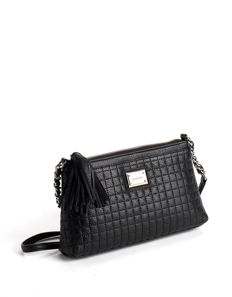 Calvin klein Quilted Leather Crossbody Bag in Black | Lyst : calvin klein quilted leather crossbody bag - Adamdwight.com
