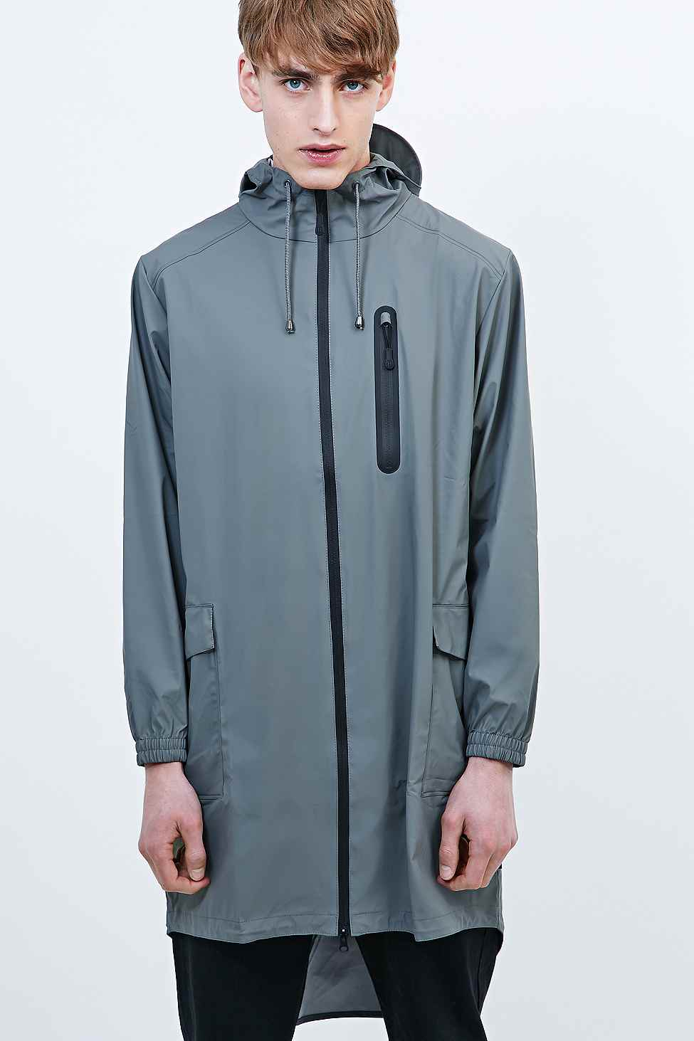 Rains Parka Jacket In Grey in Gray for Men | Lyst
