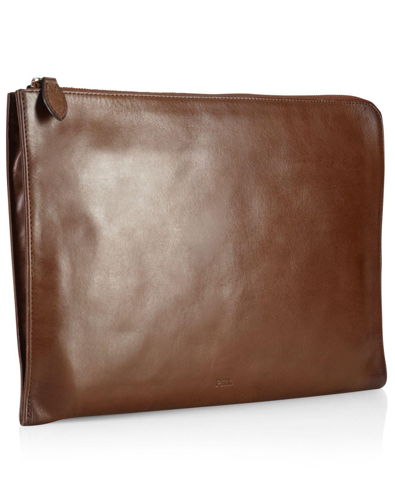 0b90e863abda Lyst - Polo Ralph Lauren Core Leather Folio in Brown for Men