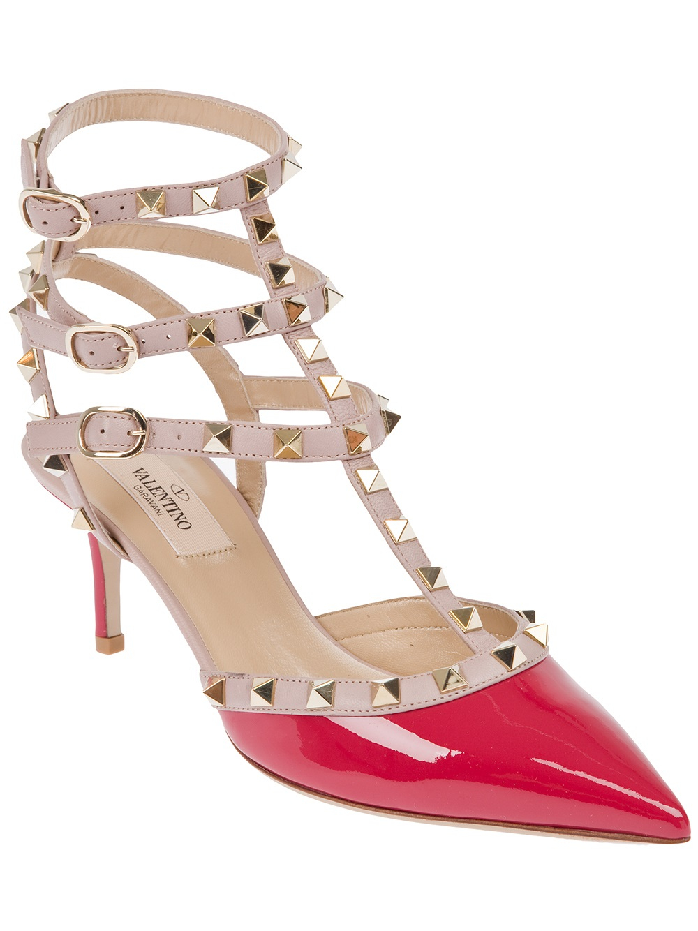 Valentino Garavani Rockstud ankle strap pumps - Pink & Purple Valentino yhGcc77sJ