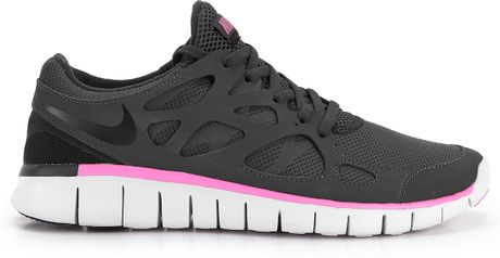 nike free run 2 womens black and pink