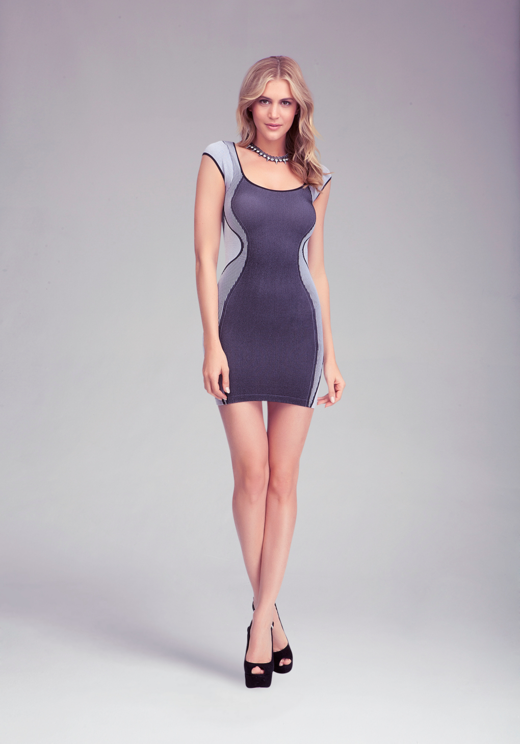 Bebe contour ribbed bodycon dress in black lyst gallery ombrellifo Images