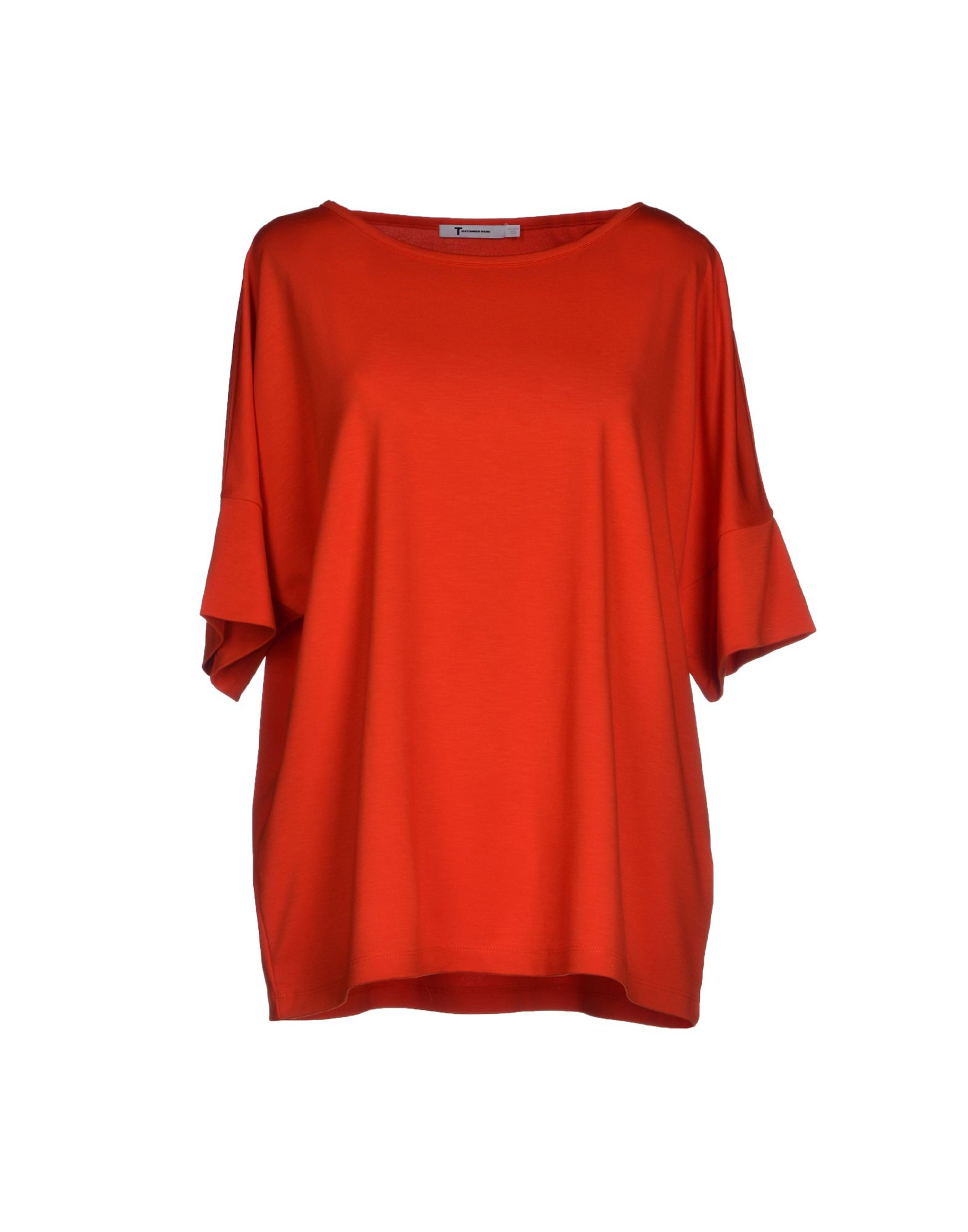 T By Alexander Wang T Shirt In Red Rust Save 44 Lyst