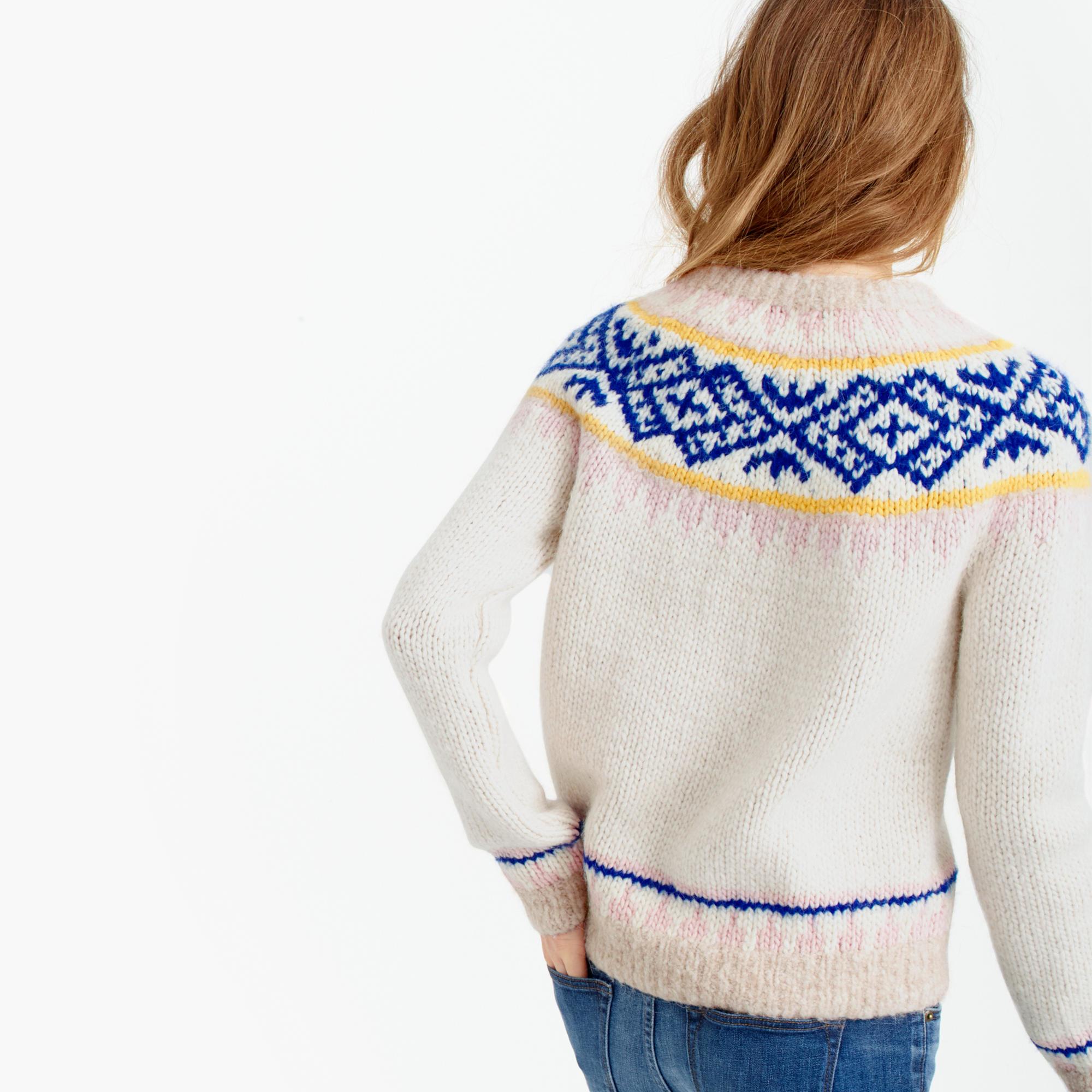 J.crew Collection Fair Isle Sweater In Italian Yarn in Blue | Lyst