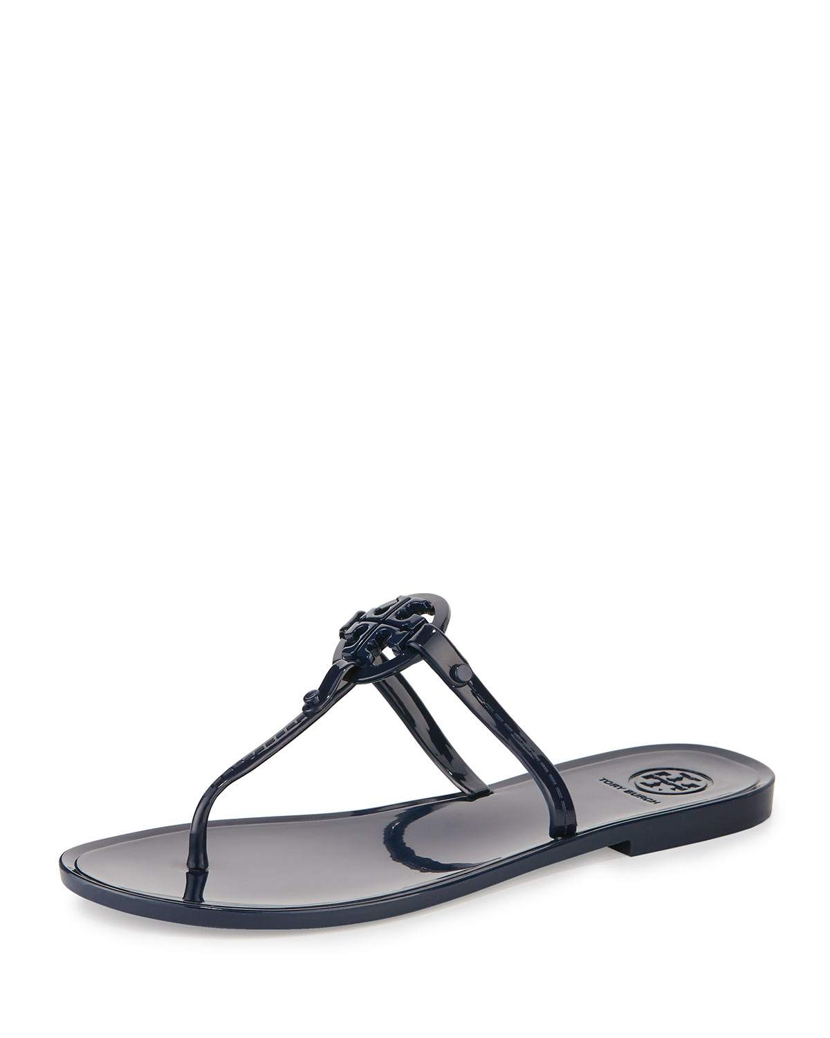 b91c11aa8 Lyst - Tory Burch Colori Logo-Detail Jelly Sandals in Blue