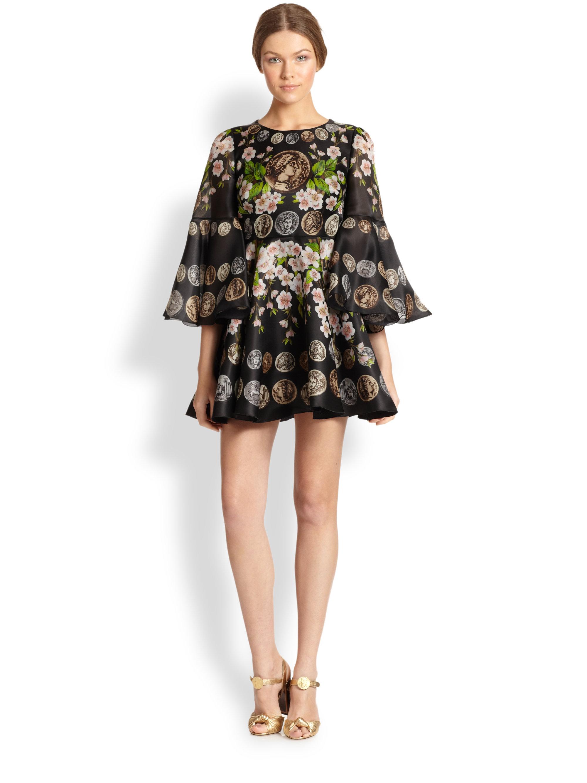 Dolce Amp Gabbana Cherry Blossom Coin Silk Organza Mini