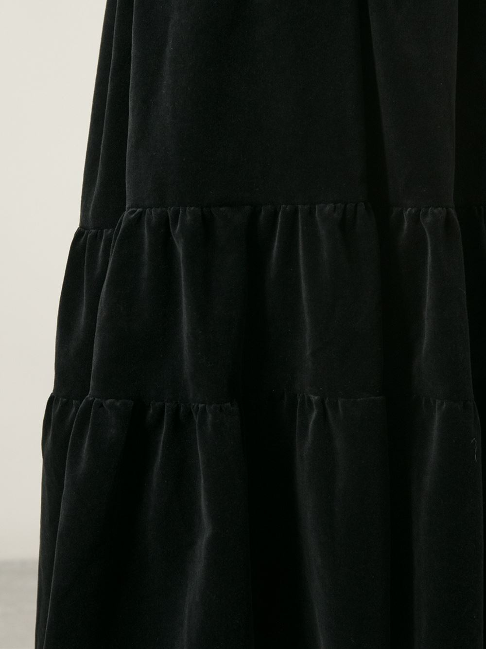 comme des gar 231 ons quilted midi skirt in black lyst