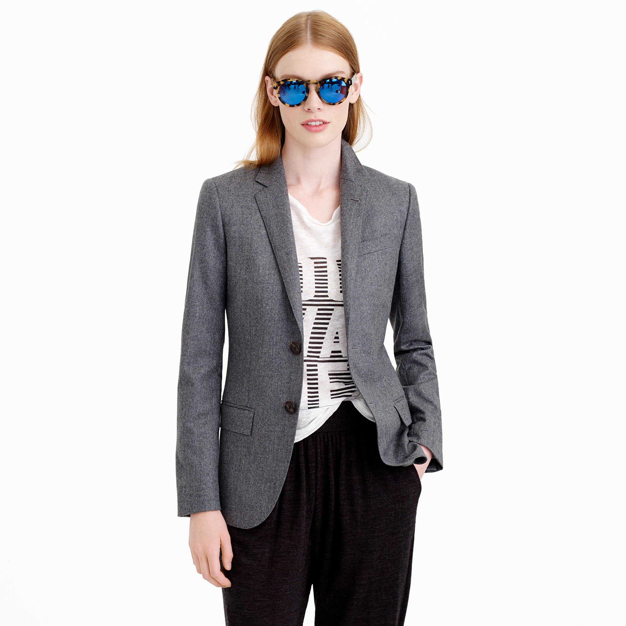 Wool Blazer Stay warm and on-trend in the polished look of a wool blazer. Whether you're in search of men's or women's jackets, discover the perfect piece to build on your professional rotation.
