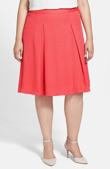 vince camuto a line skirt in pink pomegranates lyst