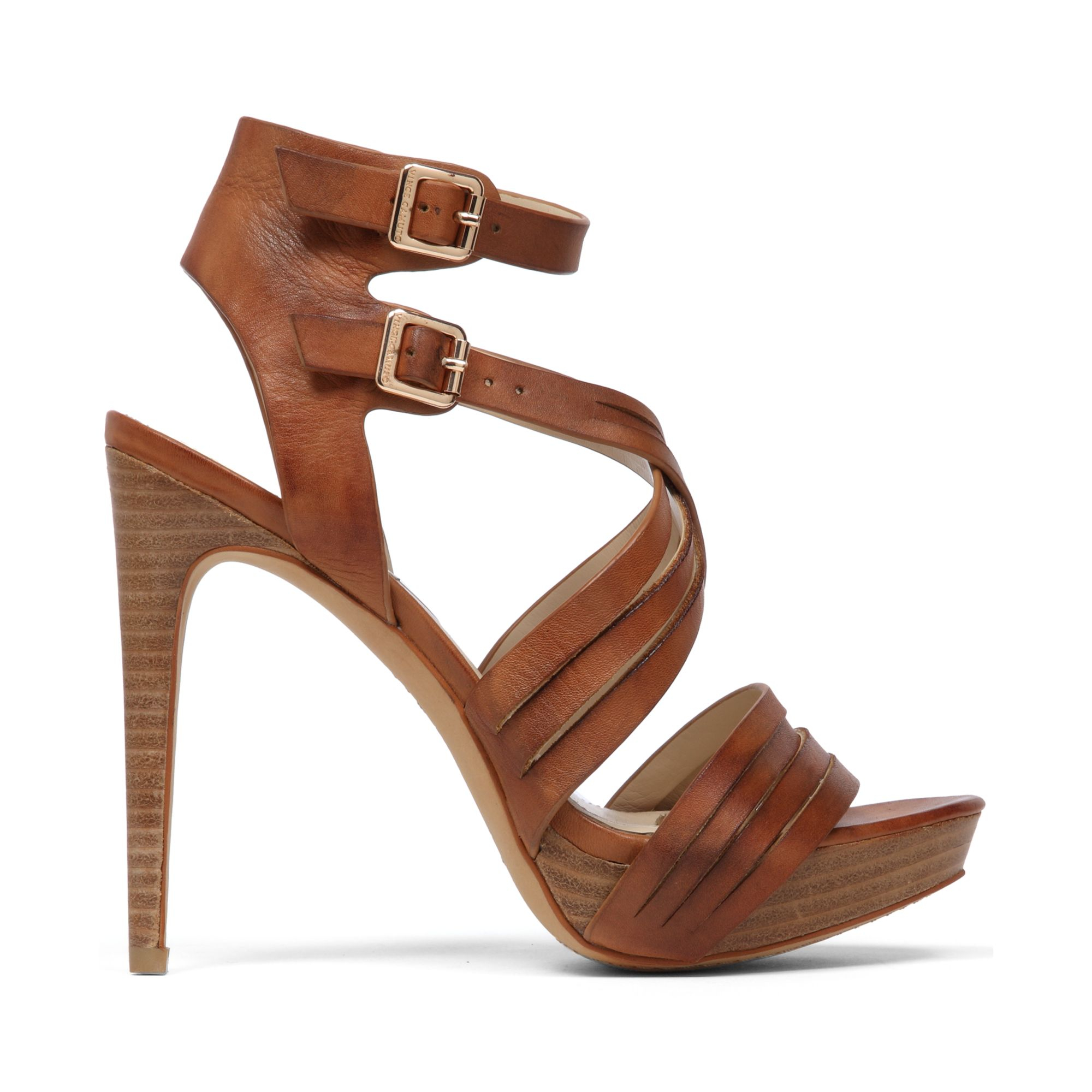 Lyst Vince Camuto Jistil High Heel Platform Sandals In Brown