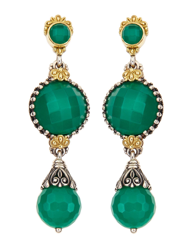 Lyst Konstantino Green Onyx Dangle Earrings In Green